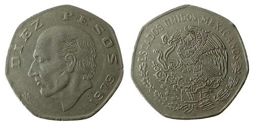 10 песо 1979 Мексика