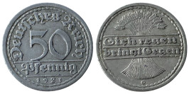 50 пфеннигов 1921 «G» Германия