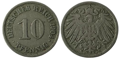 10 пфеннигов 1904 «A» — Германская империя