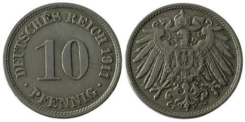 10 пфеннигов 1911 «F» — Германская империя