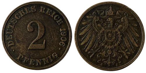 2 пфеннига 1906 «J» Германская империя