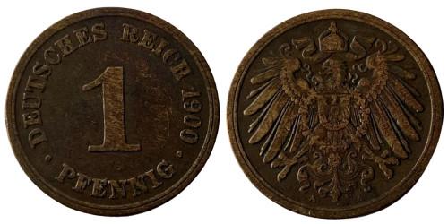 1 пфенниг 1900 «А» Германская империя