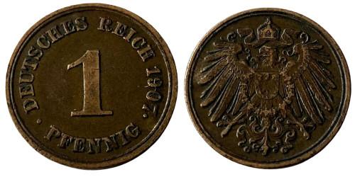 1 пфенниг 1907 «G» Германская империя