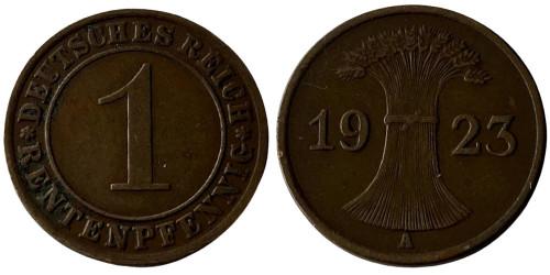 1 рентенпфенниг 1923 «А» Германия