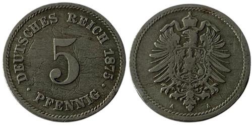 5 пфеннигов 1875 «А» Германская империя