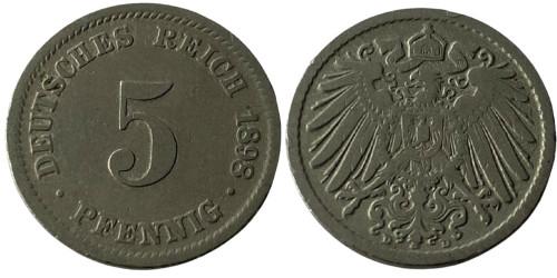 5 пфеннигов 1898 «D» Германская империя