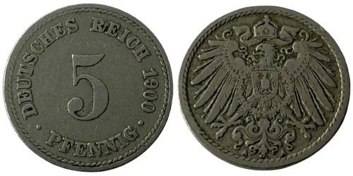 5 пфеннигов 1900 А» Германская империя