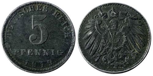 5 пфеннигов 1919 «А» Германская империя