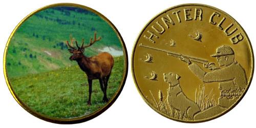 Памятная медаль — Клуб охотников — Европейский лось (Alces alces)