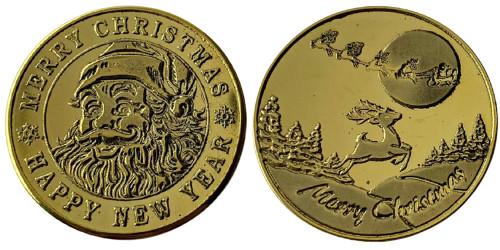 Памятная медаль — Веселого Рождества и счастливого Нового года