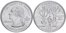 25 центов 2001 P США — Вермонт — Vermont