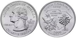 25 центов 2000 D США — Южная Каролина — South Carolina UNC