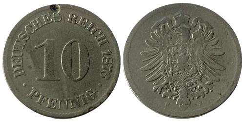10 пфеннигов 1876 «H» Германская империя