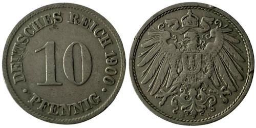 10 пфеннигов 1900 «D» — Германская империя