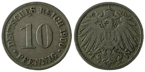 10 пфеннигов 1900 «J» — Германская империя