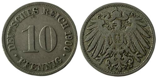 10 пфеннигов 1900 «F» — Германская империя
