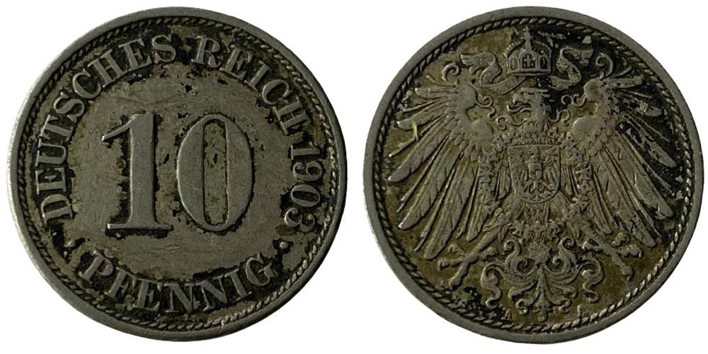 10 пфеннигов 1903 «А» — Германская империя