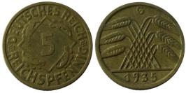 5 рейхспфеннигов 1935 «G» Германская империя