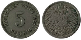 5 пфеннигов 1906 «E» Германская империя
