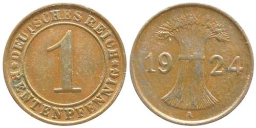 1 рентенпфенниг 1924 «А» Германия