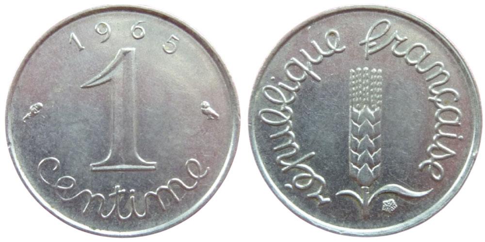 1 сантим 1965 Франция