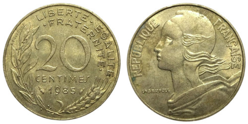 20 сантимов 1985 Франция