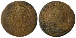 1 грош 1755 Польша — Отметка монетного двора «H» №3