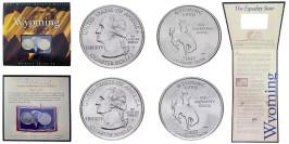Набор из 2-ух монет 25 центов 2007 P,D США — Вайоминг — Wyoming UNC