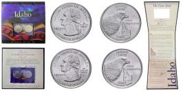 Набор из 2-ух монет 25 центов 2007 P,D США —  Айдахо — Idaho UNC