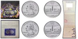 Набор из 2-ух монет 25 центов 2007 P,D США —  Юта — Utah UNC